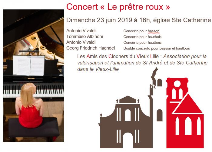 Concert à l'église Sainte Catherine à Lille avec Chambre à part, le 23 juin 2019 à 16h